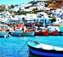 Feeling Nostalgic On The Water In Mykonos, Greece Sticker