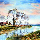 Sunset on the River by Glenn Marshall