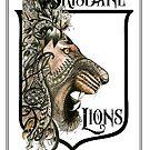Brisbane Lions AFL Football by Jenny Wood
