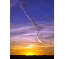 Con trail at sunrise. Photographic Print