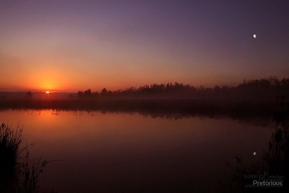 Sunrise-Moonset by Pretorious