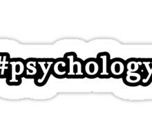 Psychology - Hashtag - Black & White Sticker