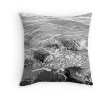 The Joppa Rocks, Scotland Throw Pillow