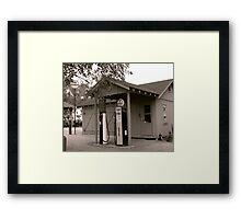 Rural Gas Station Framed Print