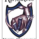 North Melbourne AFL Kangaroos by Jenny Wood