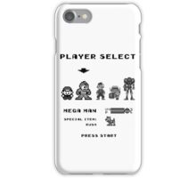 Classic game boy player select iPhone Case/Skin