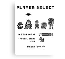 Classic game boy player select Canvas Print