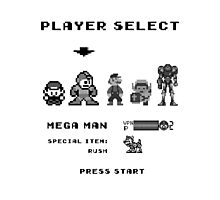 Classic gameboy player select Photographic Print