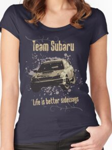 Life is better sideways Women's Fitted Scoop T-Shirt