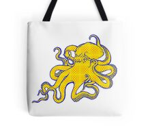 Checkerboard Octopus Tote Bag