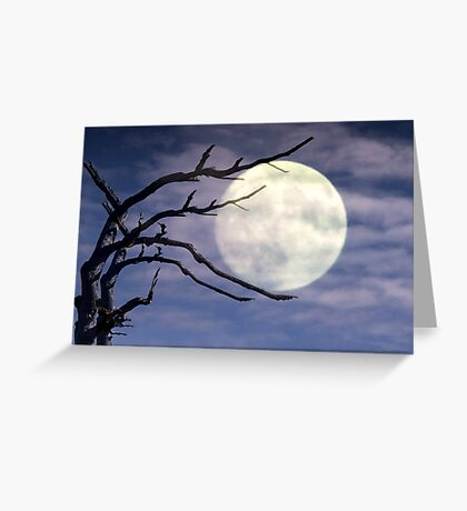 The Moon Holder Greeting Card