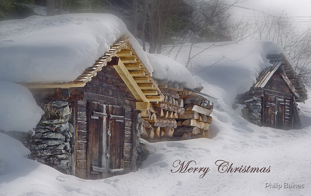 Wengen Christmas card by Philip Baines