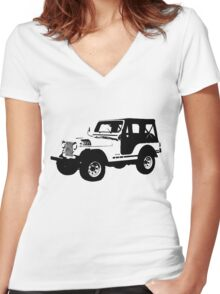 Teen Wolf - Stiles' Jeep Women's Fitted V-Neck T-Shirt