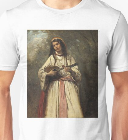 Camille Corot - Gypsy Girl With Mandolin Unisex T-Shirt