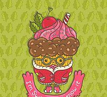 Christmas cupcake  by kostolom3000