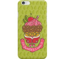 Christmas cupcake  iPhone Case/Skin
