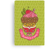Christmas cupcake  Canvas Print