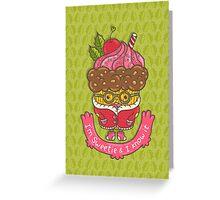 Christmas cupcake  Greeting Card
