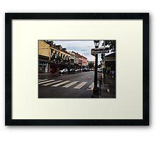Rain Soaked Dumaine - New Orleans, LA Framed Print