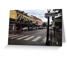 Rain Soaked Dumaine - New Orleans, LA Greeting Card