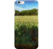 Green wheat field iPhone Case/Skin