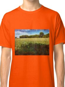 Green wheat field Classic T-Shirt