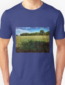 Green wheat field Unisex T-Shirt