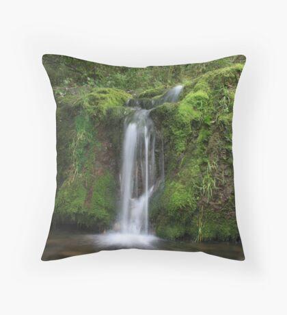 Lathkill Falls Throw Pillow