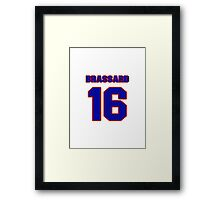 National Hockey player Derick Brassard jersey 16 Framed Print