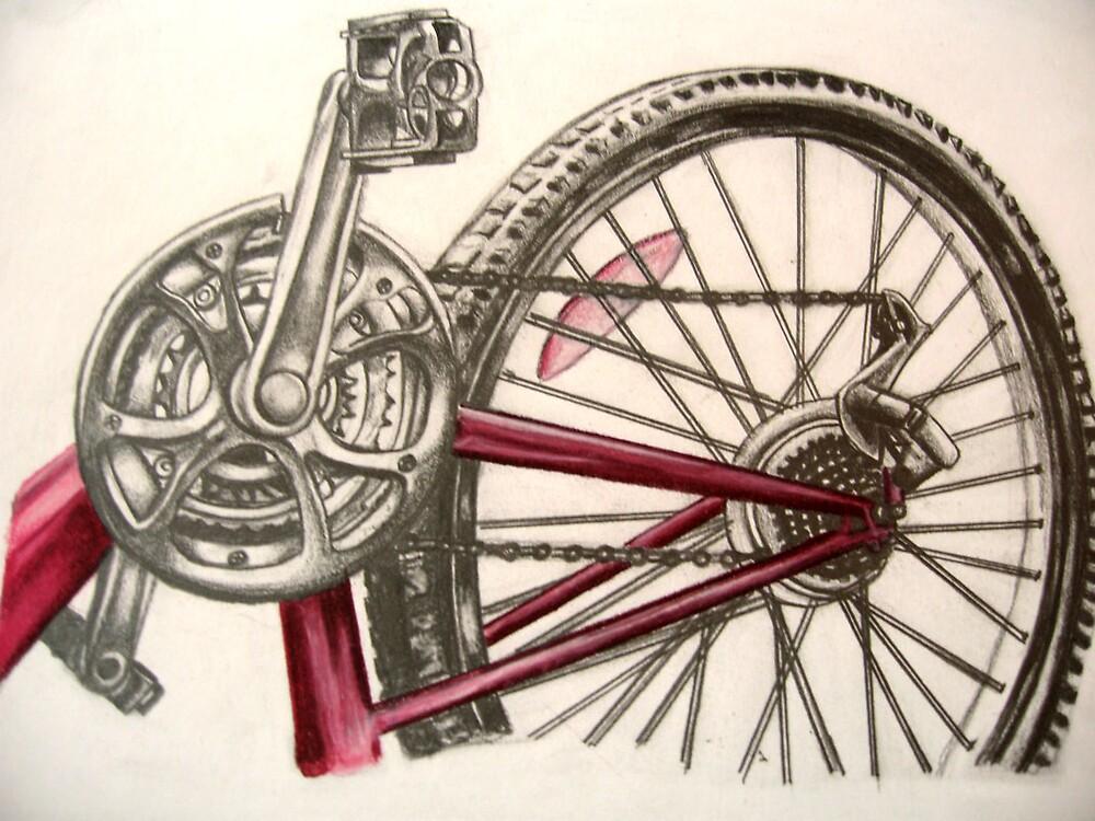 My drawing of a bike by benni6634