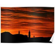 Winter Sunrise over Edinburgh Poster
