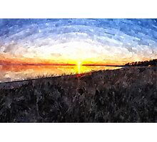 Beautiful sunset above the sea Photographic Print