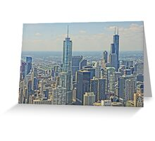 Skyline from Hancock Greeting Card