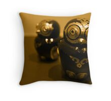 burmese owls.. Throw Pillow