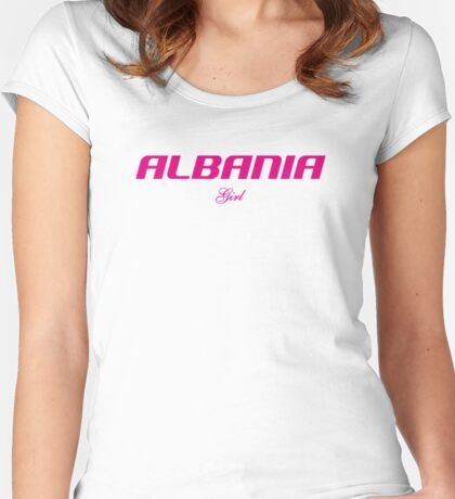 ALBANIA GIRL Women's Fitted Scoop T-Shirt