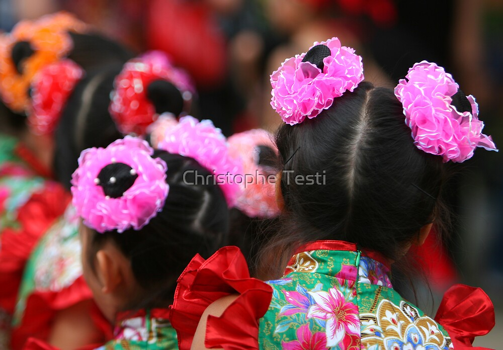 Chinese Dancer by Christophe Testi