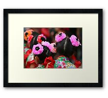 Chinese Dancer Framed Print
