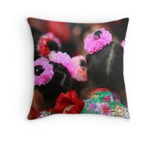 Chinese Dancer Throw Pillow
