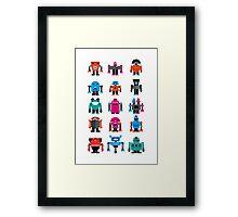 Robots fabric Framed Print