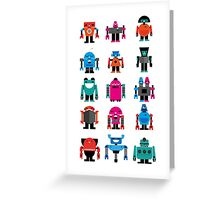 Robots fabric Greeting Card