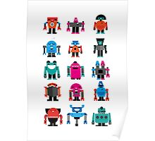 Robots fabric Poster