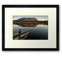 Mount Roland Reflections Framed Print