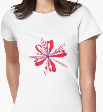 Red Ribbon Womens Fitted T-Shirt
