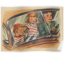Retro Unsafe Driving Poster