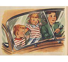 Retro Unsafe Driving Photographic Print