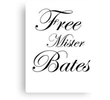 Free Mister Bates Canvas Print