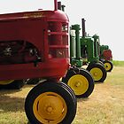 Tractors on Line by EmmaLeigh