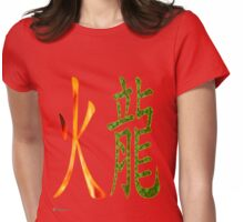 Fire Dragon   1916 and 1976 Womens Fitted T-Shirt