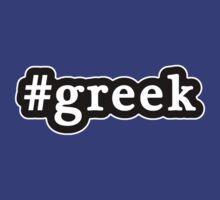 Greek - Hashtag - Black & White by graphix
