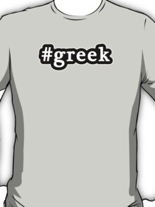 Greek - Hashtag - Black & White T-Shirt